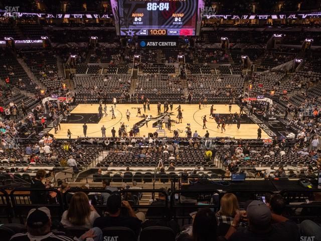 AT&T Center Section 107 view