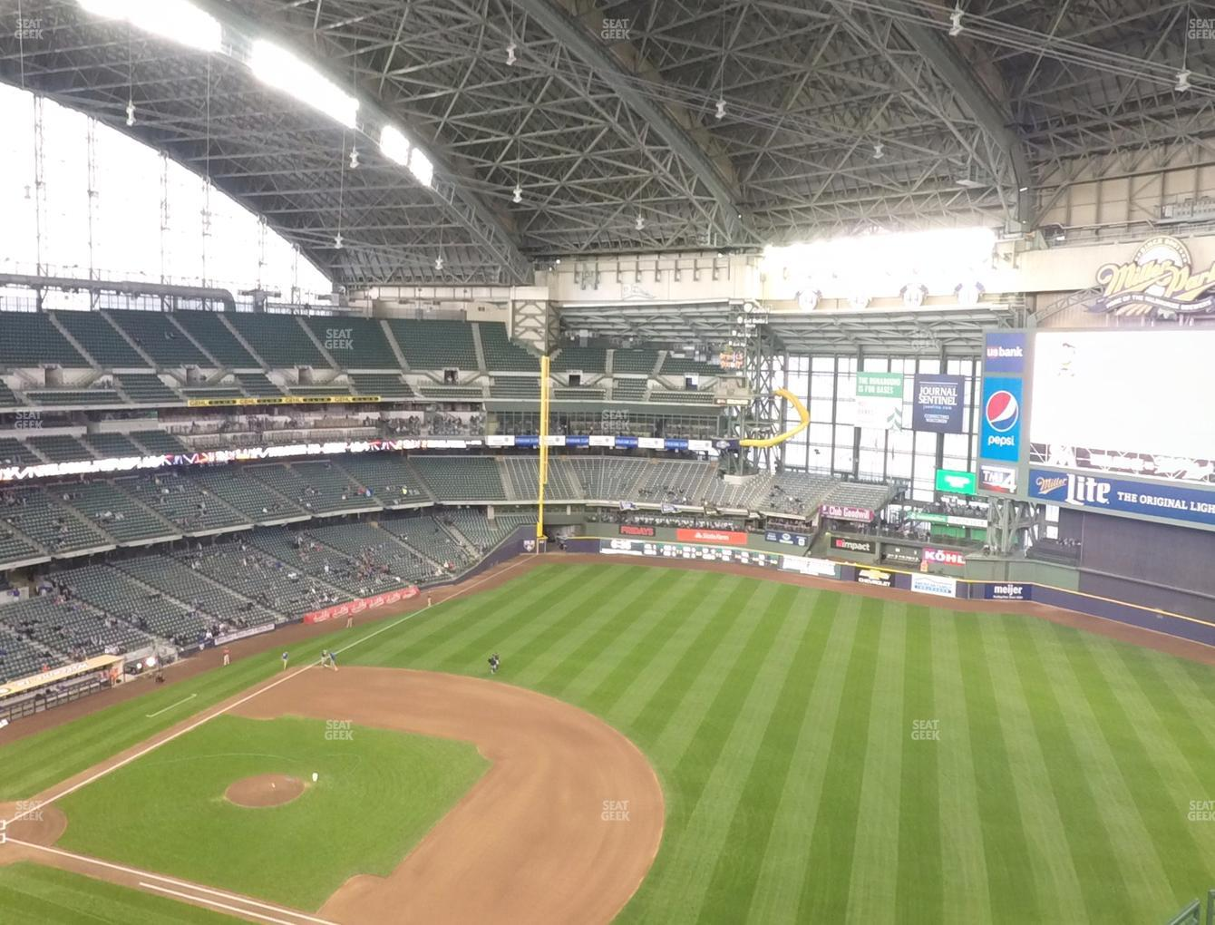 Milwaukee Brewers at Miller Park Section 412 View