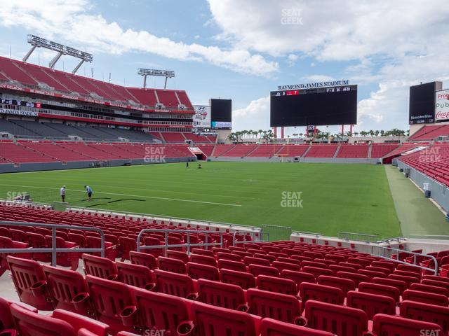 Raymond James Stadium Section 151 view
