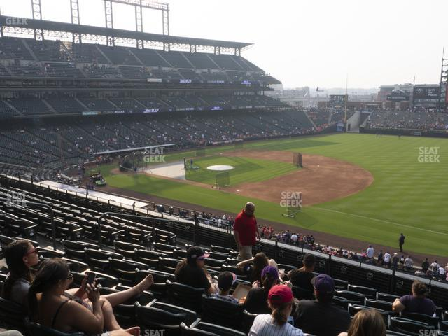 Coors Field Section 218 view