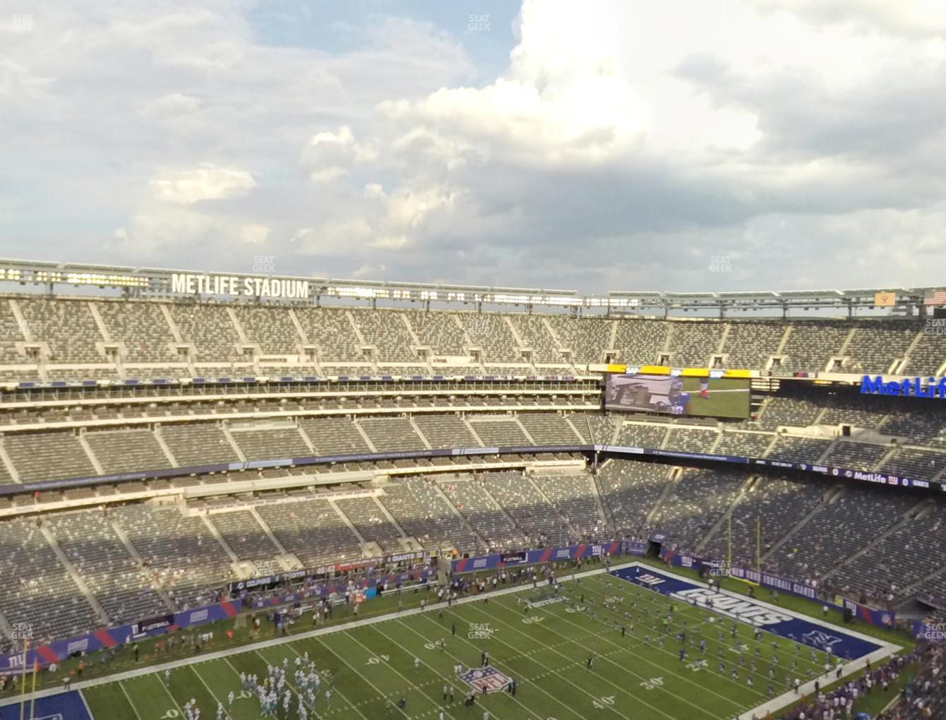 New York Jets at MetLife Stadium Section 343 View