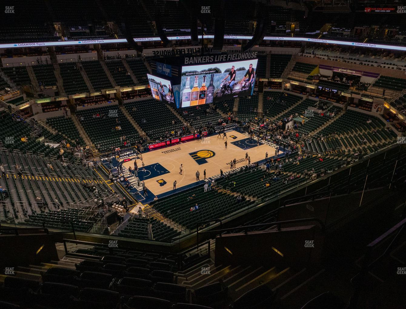 Indiana Pacers at Bankers Life Fieldhouse Section 227 View