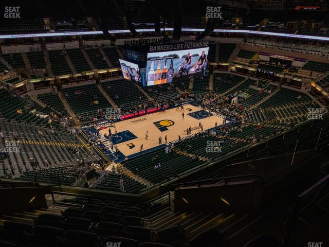 Bankers Life Fieldhouse Section 227 view