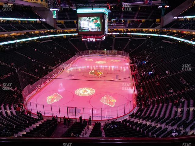 Xcel Energy Center Section Club 35 view