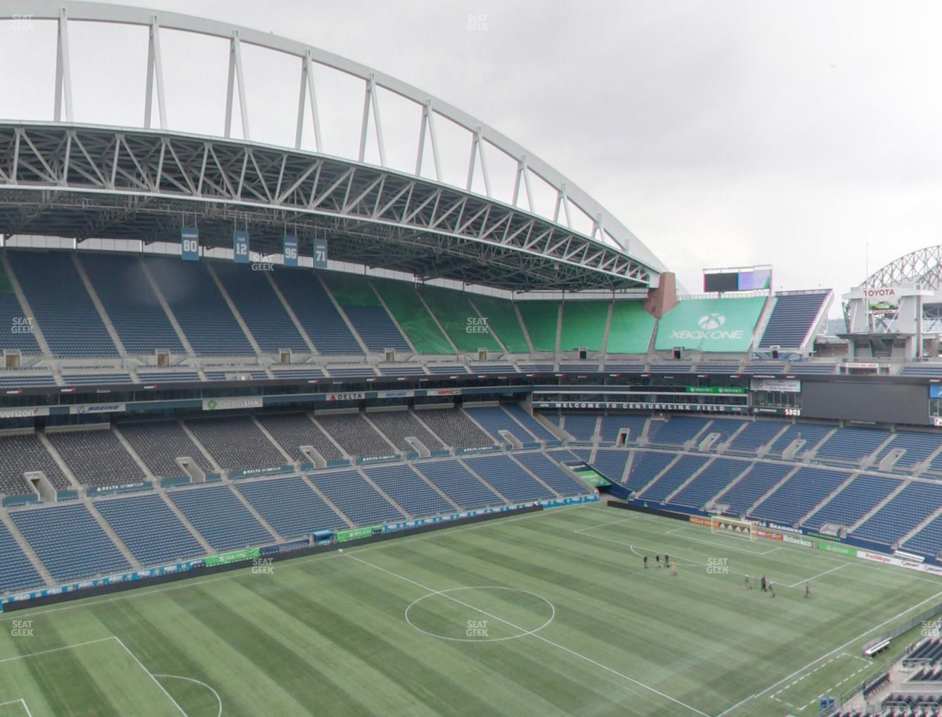 Seattle Sounders FC at CenturyLink Field Upper 340 View