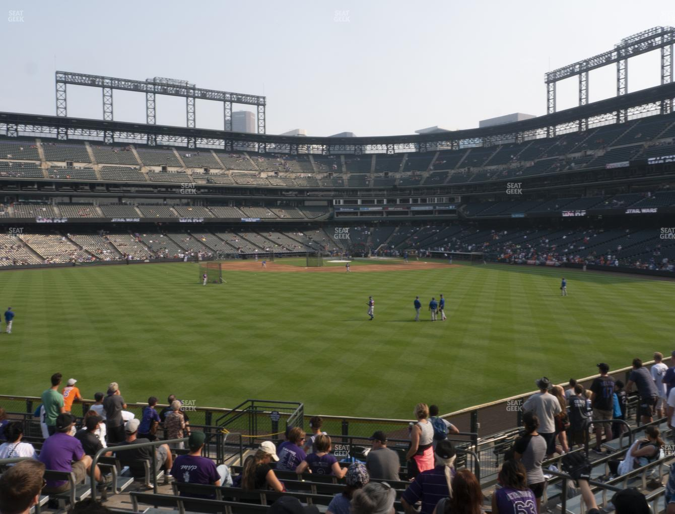 Colorado Rockies at Coors Field Section 158 View