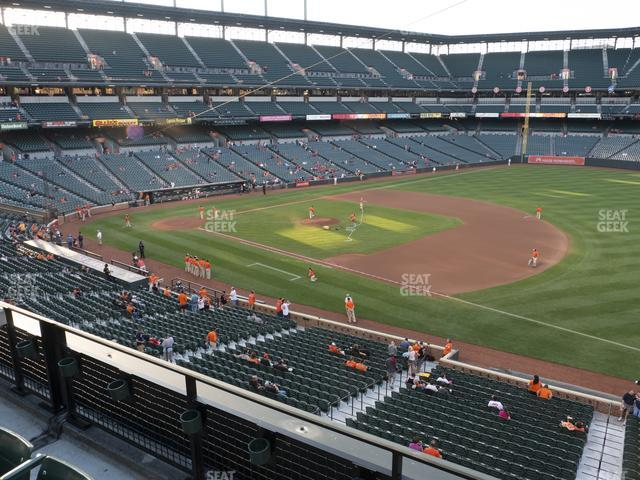 Oriole Park at Camden Yards Section 214 view