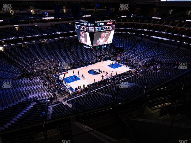 American Airlines Center Section 330 view