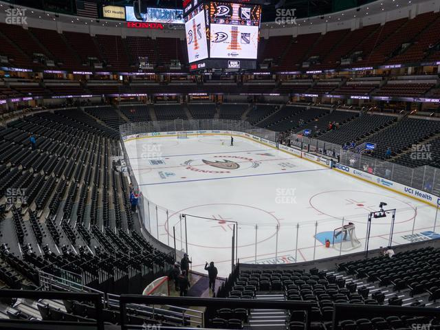 Honda Center Section 315 view