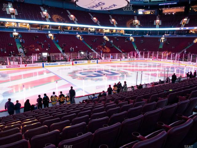 Rogers Arena Section 107 view