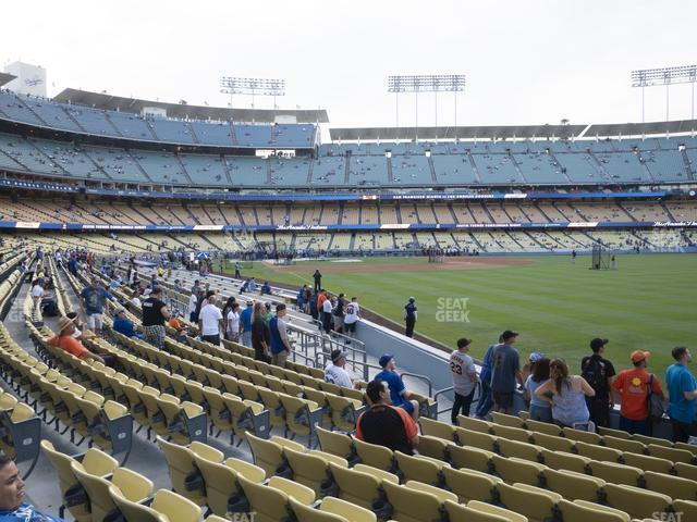 Dodger Stadium Field Box 48 view