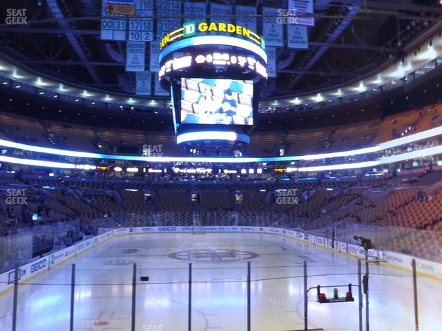 TD Garden Section Loge 18 view