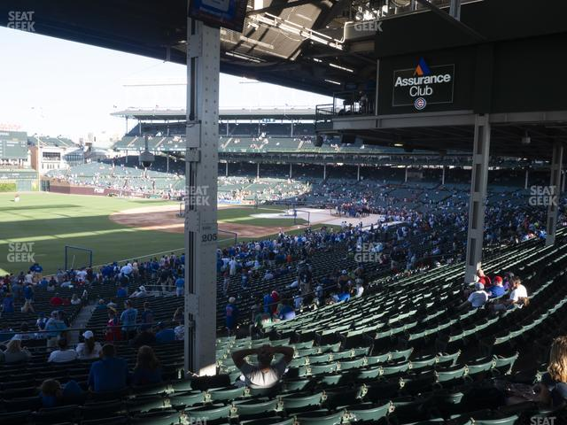 Wrigley Field Section 205 view