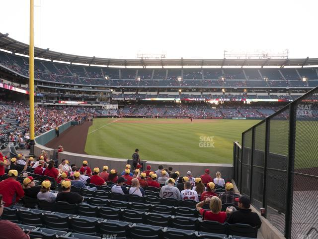 Angel Stadium of Anaheim Section 135 view