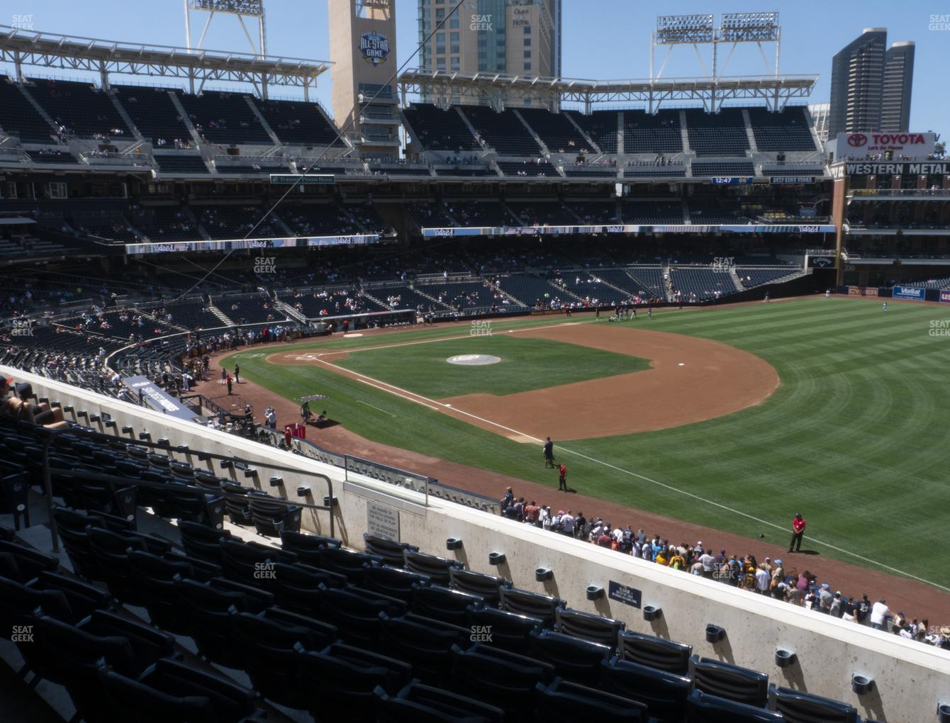 San Diego Padres at Petco Park Section 217 View