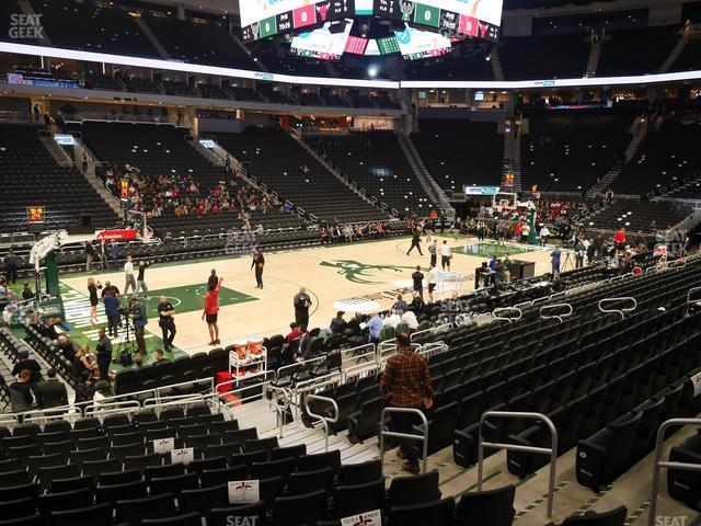Fiserv Forum Section 119 view