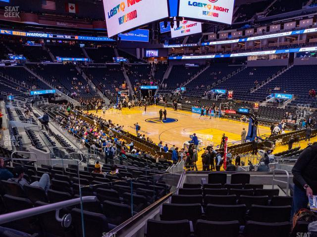 Chase Center Section 112 view