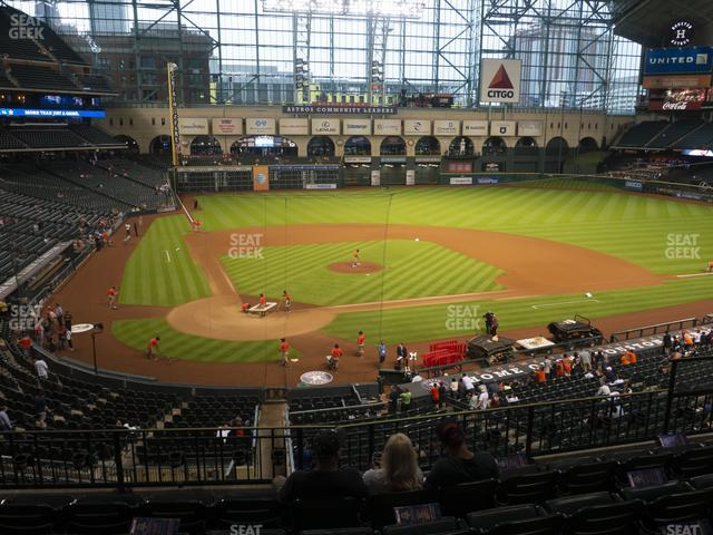 Minute Maid Park Section 222 view