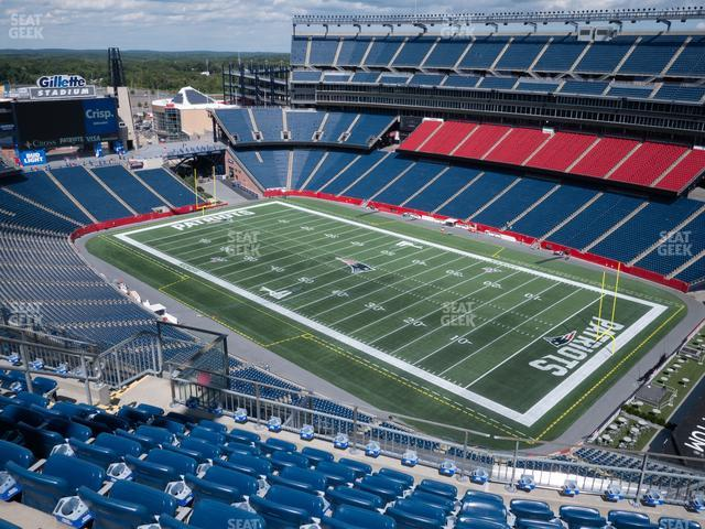 Gillette Stadium Section 325 view