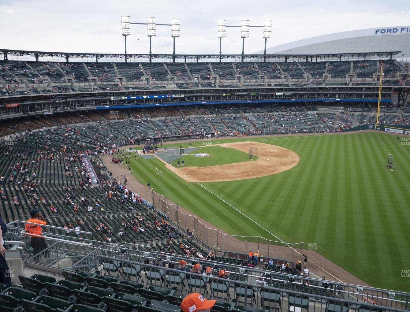 Detroit Tigers at Comerica Park Section 212 View