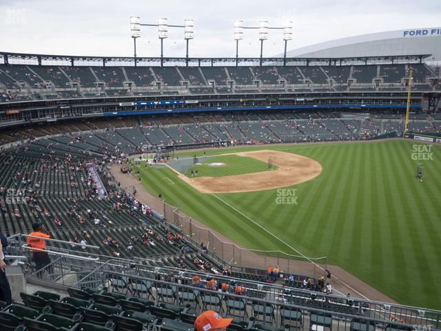 Comerica Park Section 212 view