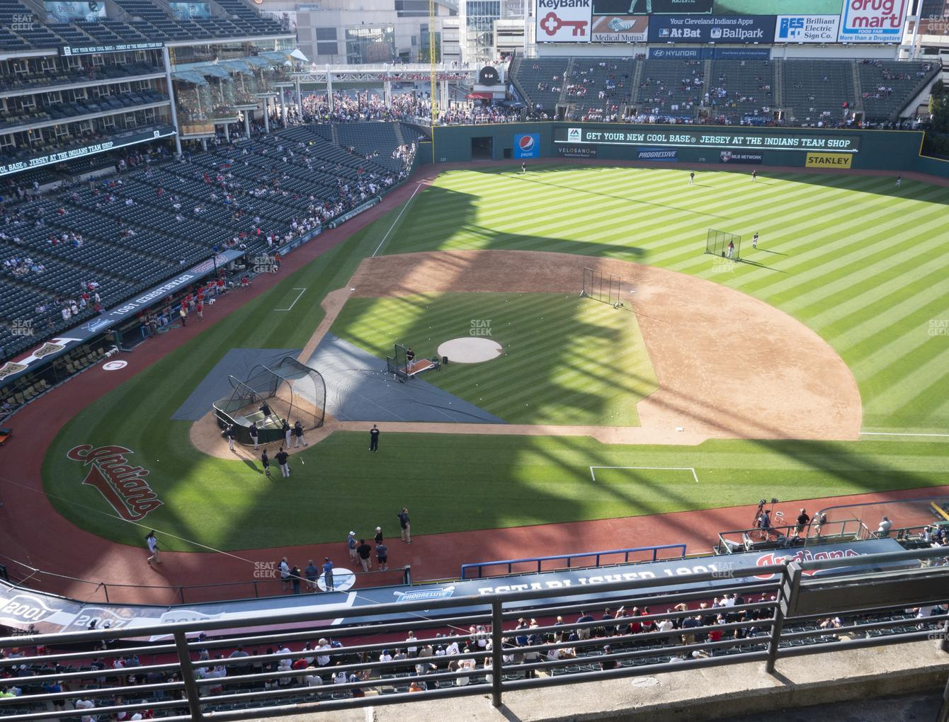 Cleveland Indians at Progressive Field Section 447 View
