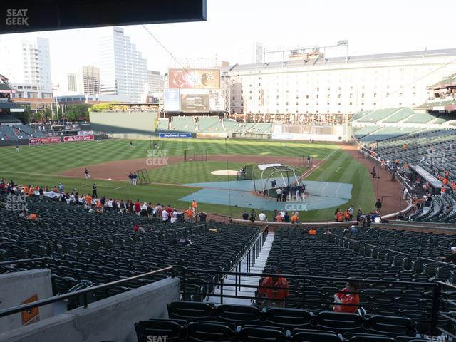 Oriole Park at Camden Yards Section 43 view