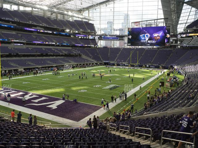 U.S. Bank Stadium Section 116 view