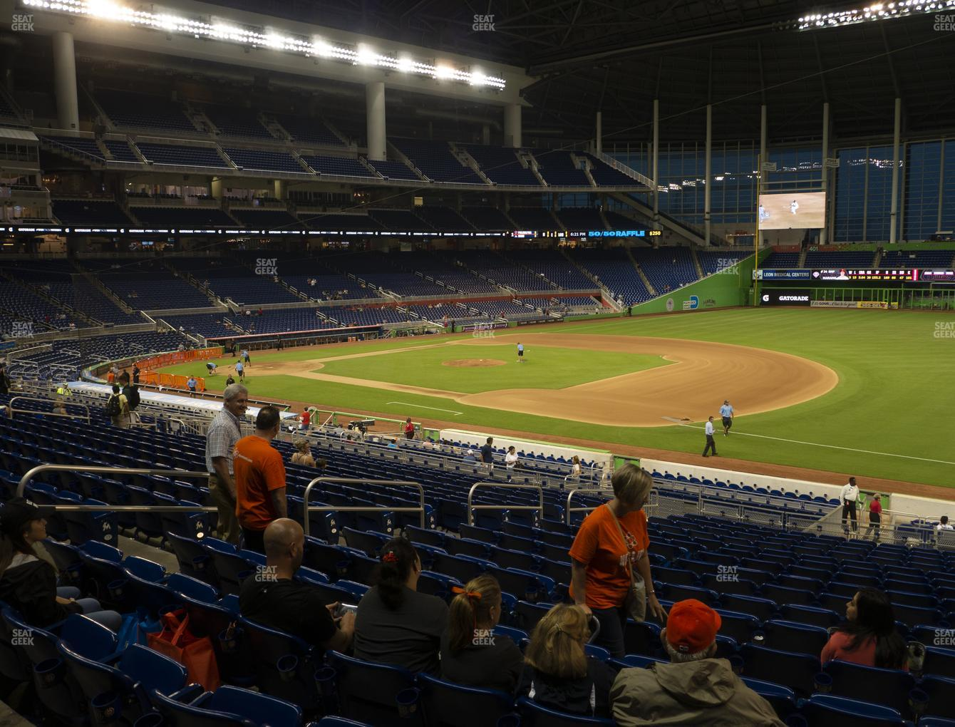 Miami Marlins at Marlins Park Section 6 View