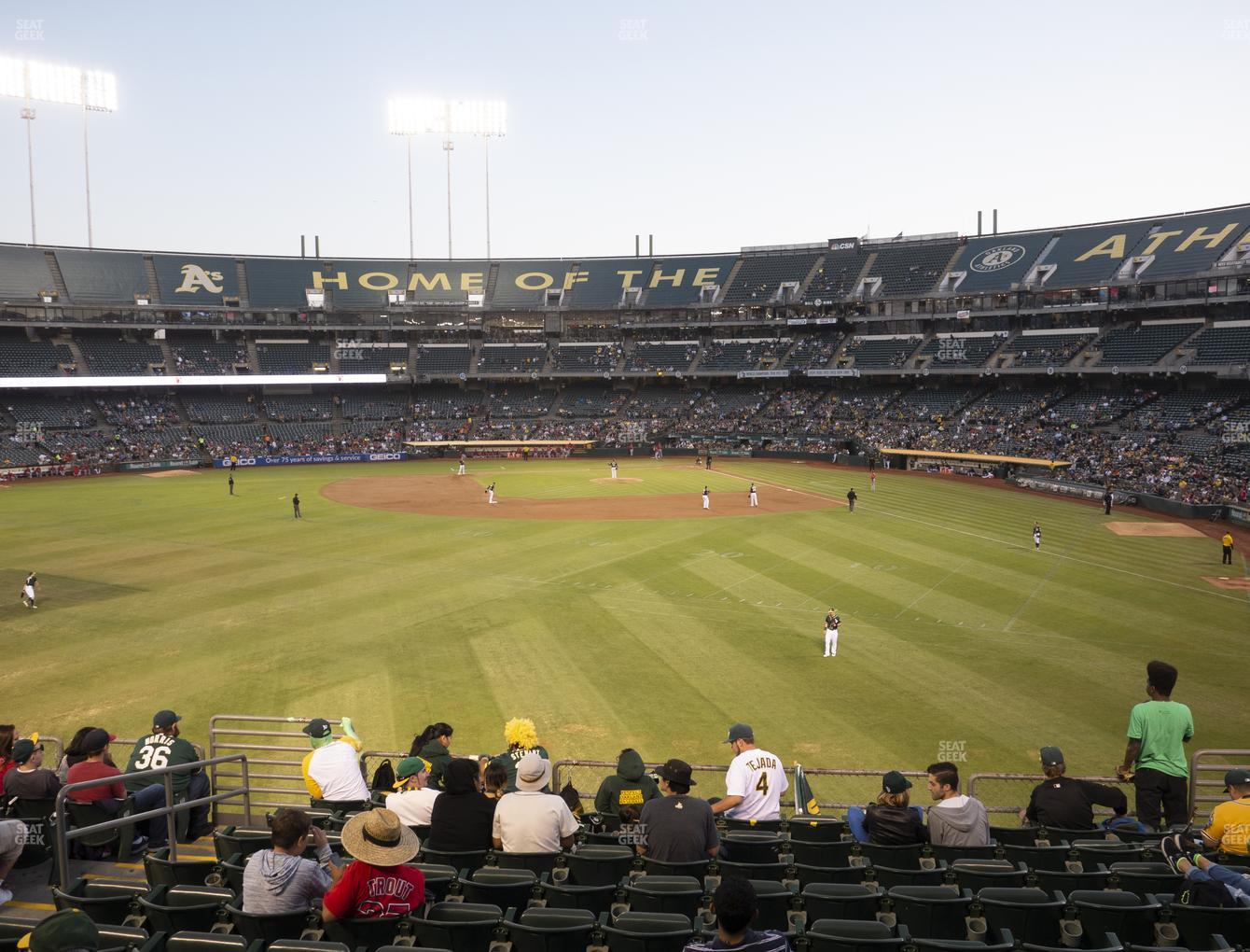 Oakland Athletics at RingCentral Coliseum Section 136 View