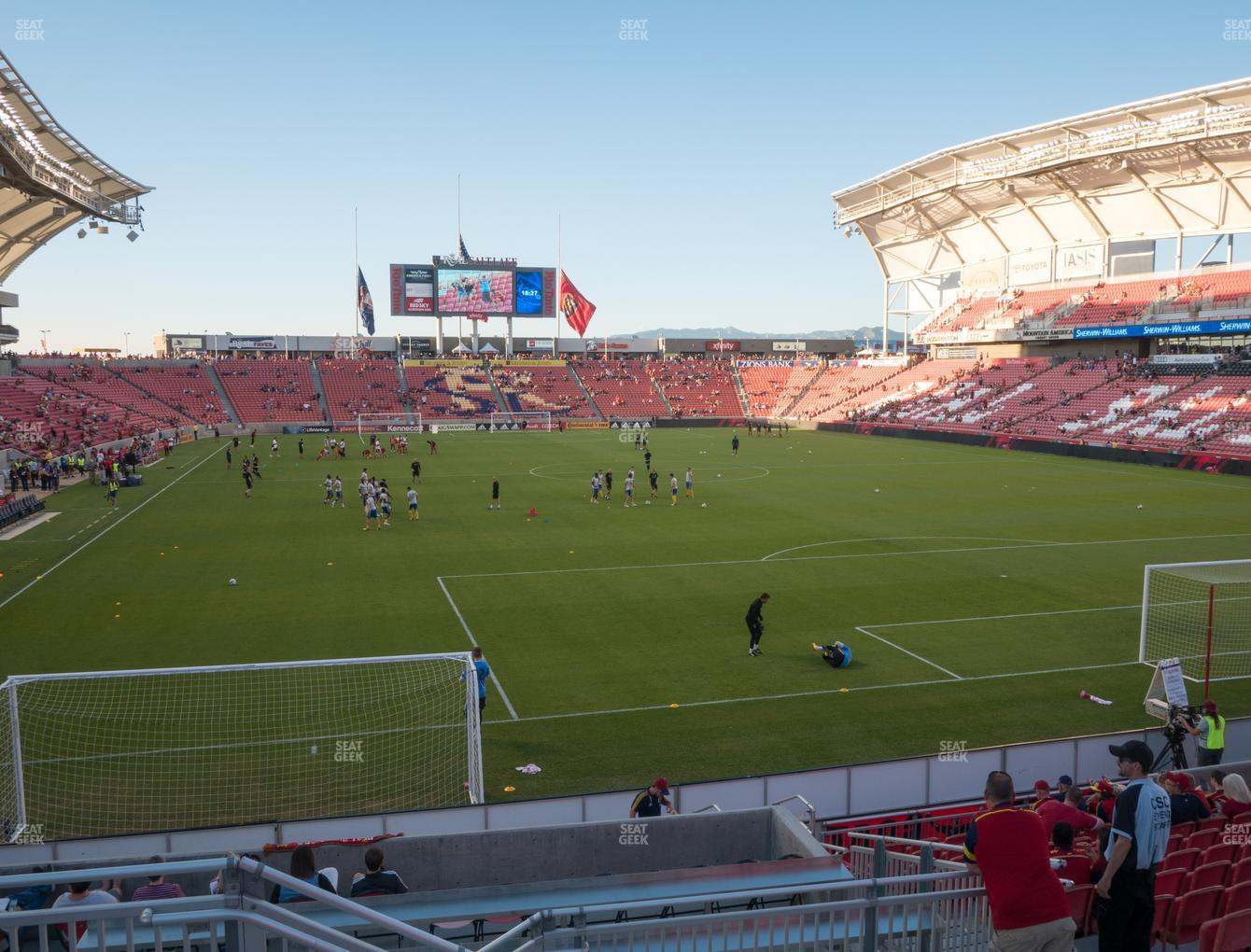Real Salt Lake at Rio Tinto Stadium Section 12 View