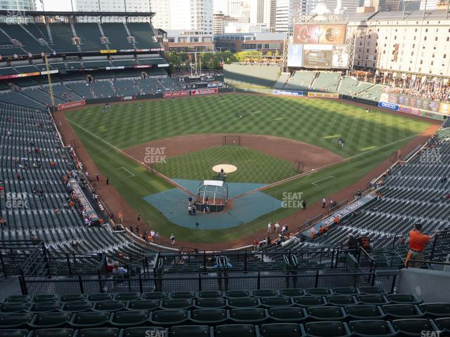 Oriole Park at Camden Yards Section 334 view