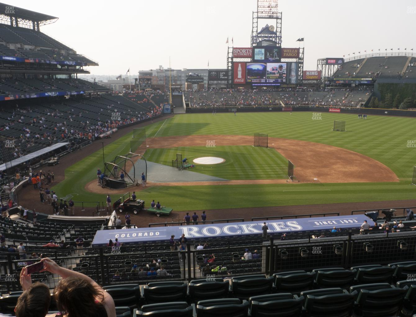 Colorado Rockies at Coors Field Section 225 View