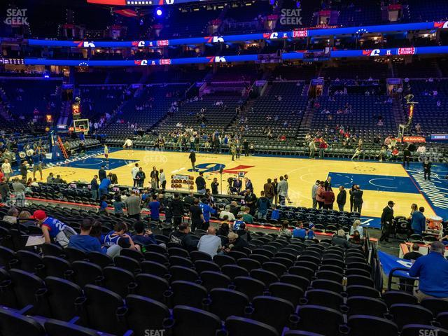 Wells Fargo Center Section 102 view