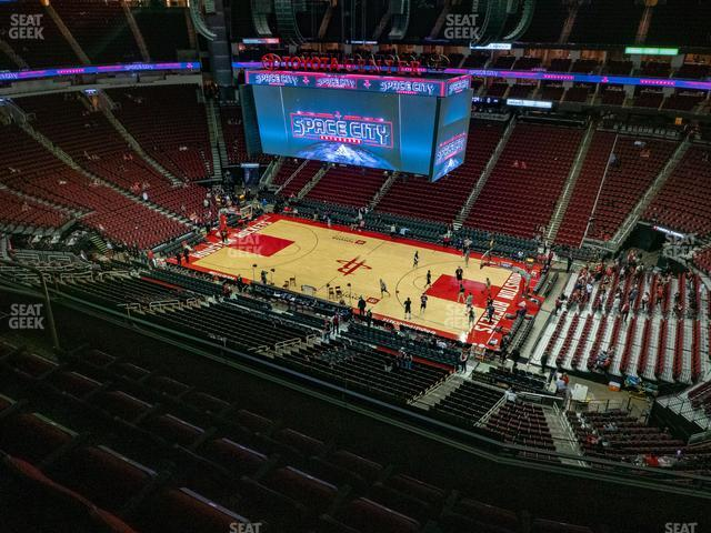 Toyota Center Section 424 view