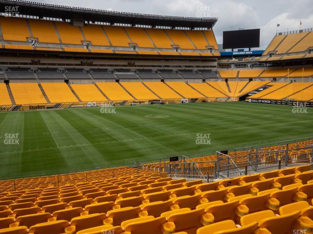 Heinz Field Section 108 view