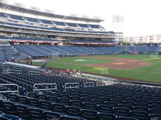 Nationals Park Section 134 view