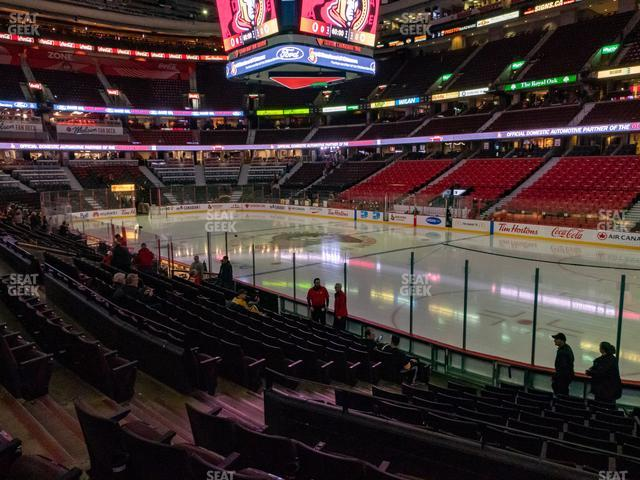 Canadian Tire Centre Section 103 view