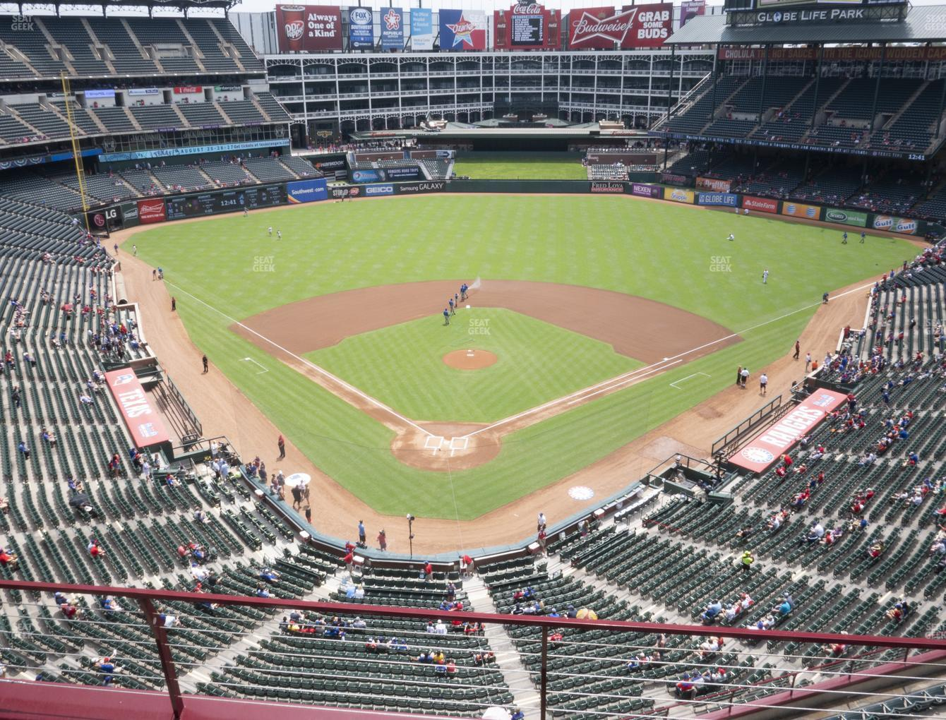 Texas Rangers at Globe Life Park Section 327 View