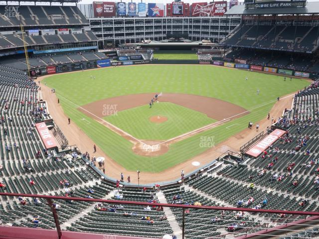Globe Life Park Section 327 view