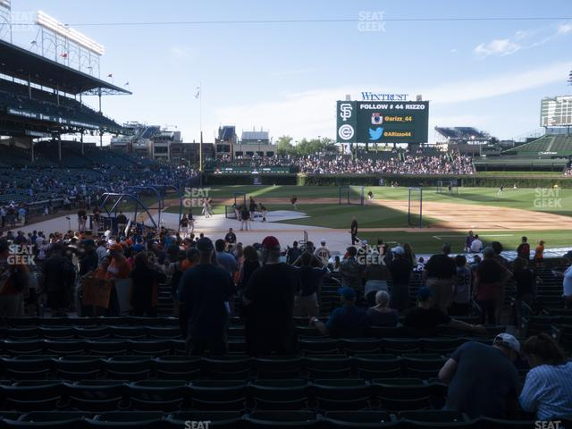 Wrigley Field Section 122 view