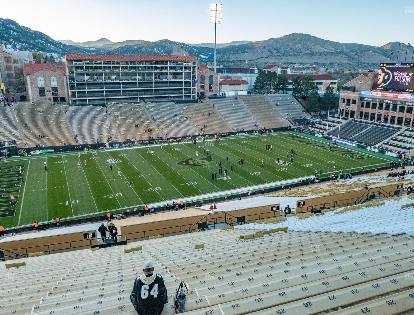 Colorado Buffaloes Football at Folsom Field Section 561 View