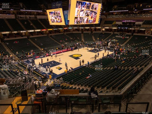 Bankers Life Fieldhouse Section 120 view