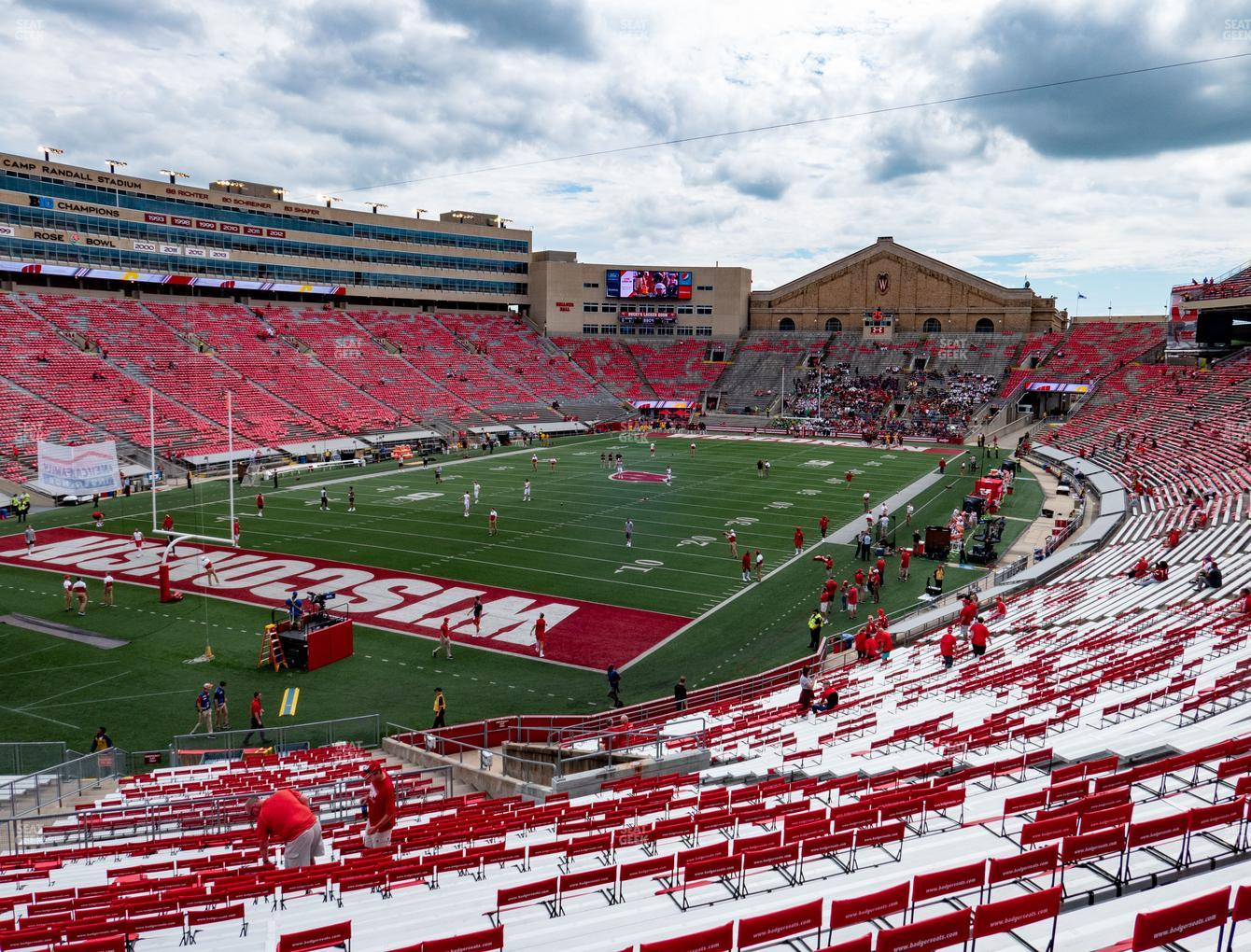 Wisconsin Badgers Football at Camp Randall Stadium Section J View