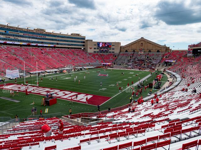 Camp Randall Stadium Section J view