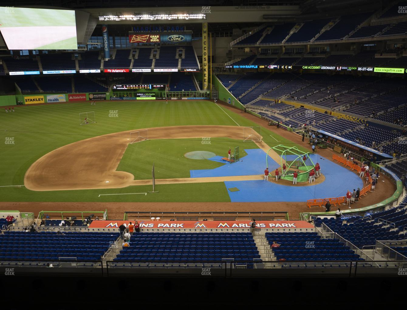 Miami Marlins at Marlins Park Section 220 View