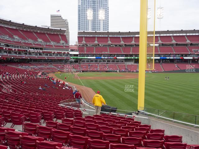 Great American Ball Park Section 139 view