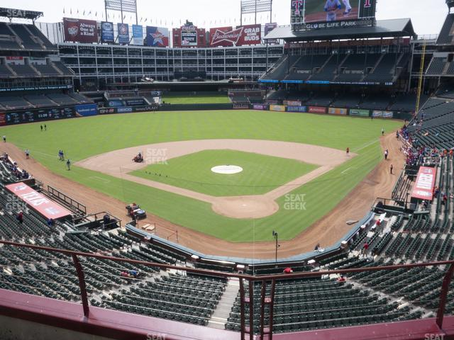 Globe Life Park Section 225 view