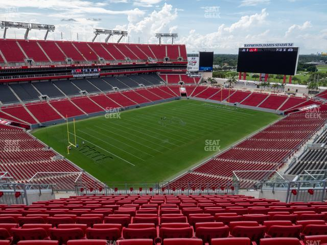 Raymond James Stadium Section 303 view