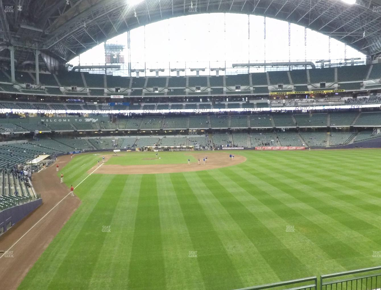 Concert at Miller Park Section 204 View